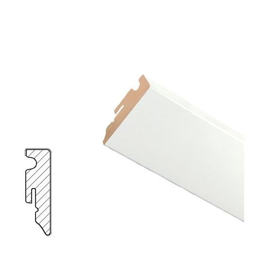 Weiss lackiert Sockelleisten FU 62